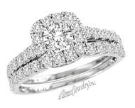 New Bridal Ladies 1.38ct Diamond Wedding Ring White Gold 14k
