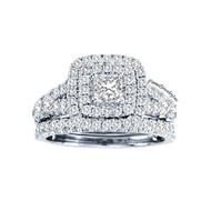 New Bridal Ladies 2.01ct Diamond Wedding Ring White Gold 14k