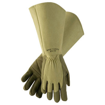 West County Gauntlet Gloves - Green