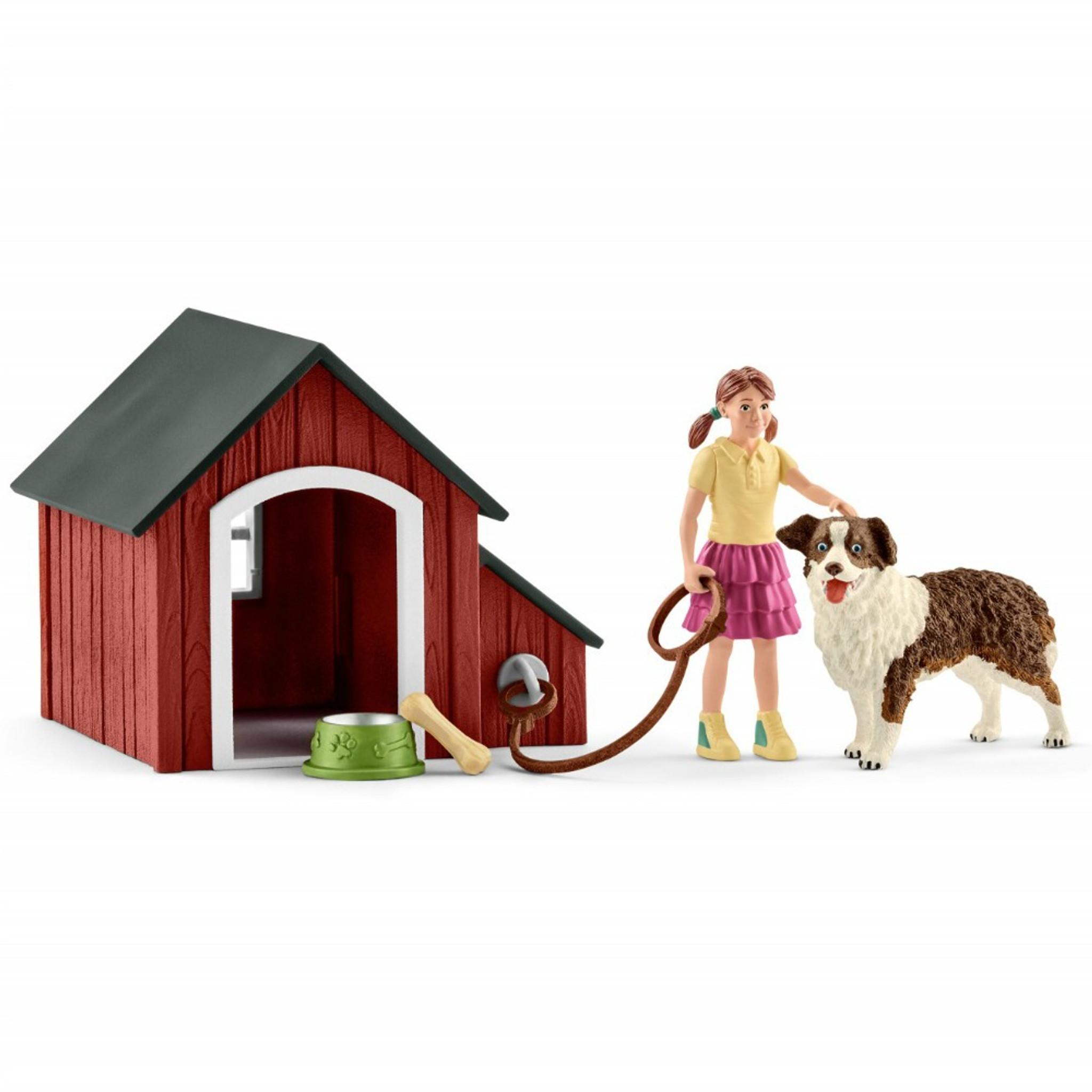 Schleich Dog Kennel Set 42376 Free Shipping