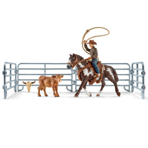Team Roping with Cowboy