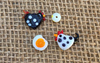 4 | Chicken 'n Egg Lampwork Glass Beads