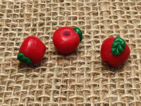 Red  Apple Glass Beads