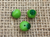 Green Apple Lampwork Glass Beads