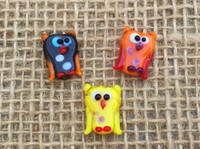 Autumn Owl Fused Glass Bead