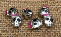 Girl Skull Large Hole Beads