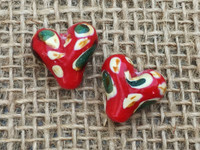 1 | Red Heart Camouflage Glass Bead
