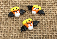 Vampire Bat Candy Corn Lampwork Glass Beads