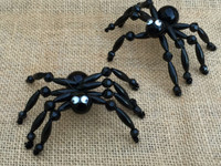 Halloween Beaded Black Spider Ornament Craft KIt