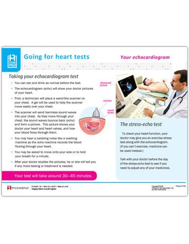 Echocardiogram Tearpad - front side