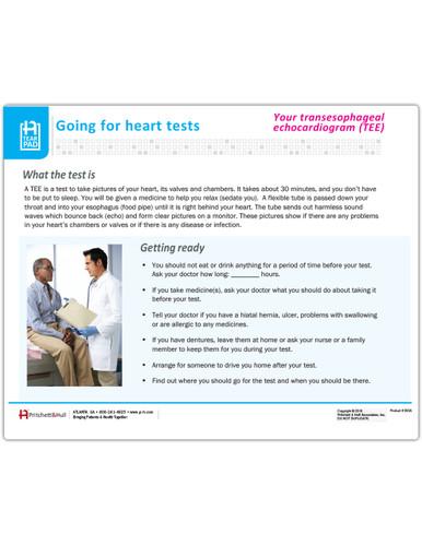 Your Transesophageal Echocardiogram Tearpad - front side