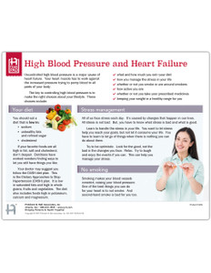 High Blood Pressure and Heart Failure tearpad - front side