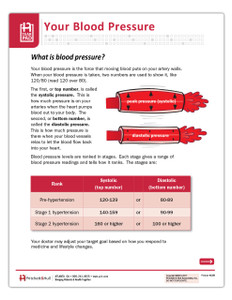 Facts About Blood Pressure Tearsheet