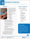 Metabolic Syndrome Tear Sheet (629A) - front side