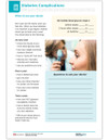 Diabetes Complications Large Print Tearpad (50 sheets per pad) (410A) - back side