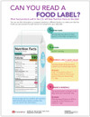 Weight Control and Nutrition Tear sheet (615) - Read A Food Label