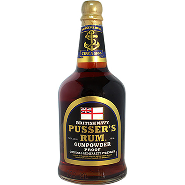 "Pusser's British Navy Rum ""Gun Powder Proof"" Original Admiralty Strength 54.5% ABV"