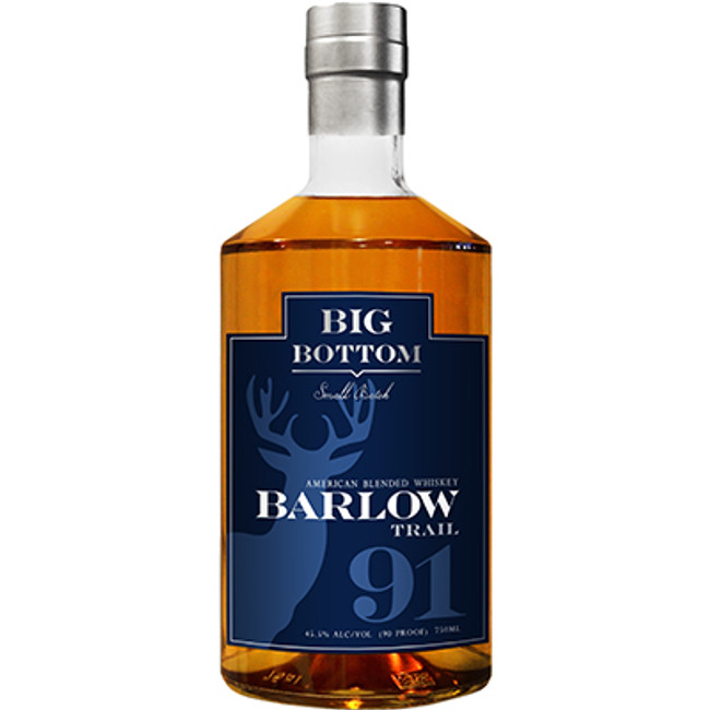 Big Bottom Distillery Barlow Trail American Blended Whiskey