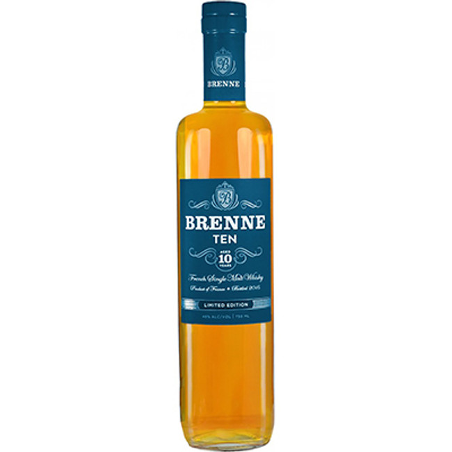 Brenne	Single Malt Whisky 10 Years Old Finished in Cognac Barrels
