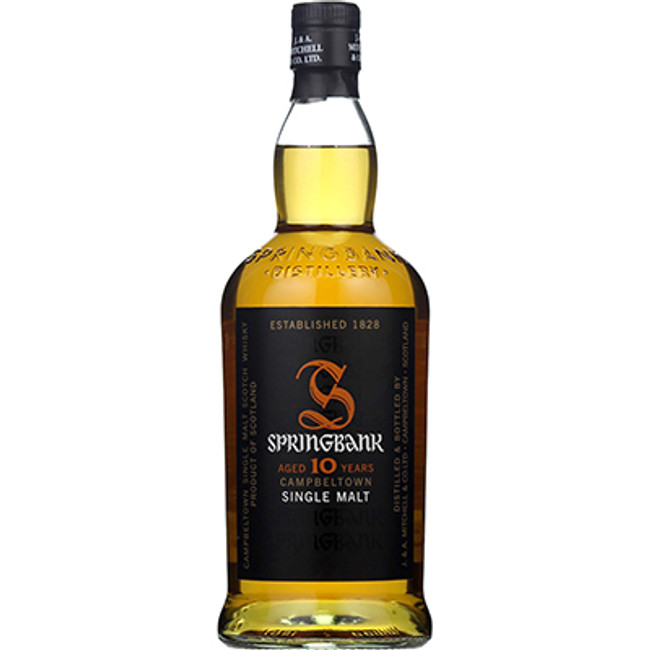 Springbank	Campbeltown	Single Malt Whisky	10 Years Old