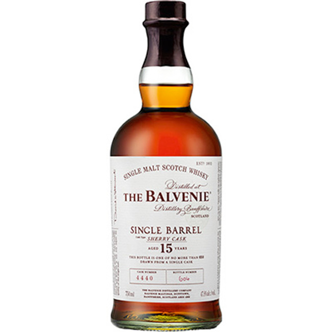 The Balvenie Single Barrel Sherry Cask 15yrs Single Malt Scotch Whiskey