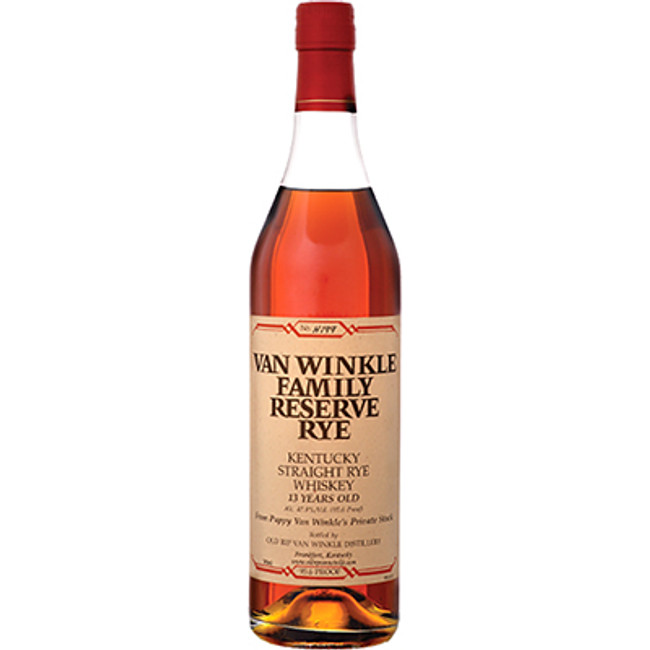 Van Winkle Family Reserve Kentucky Straight Rye 13 Years Old