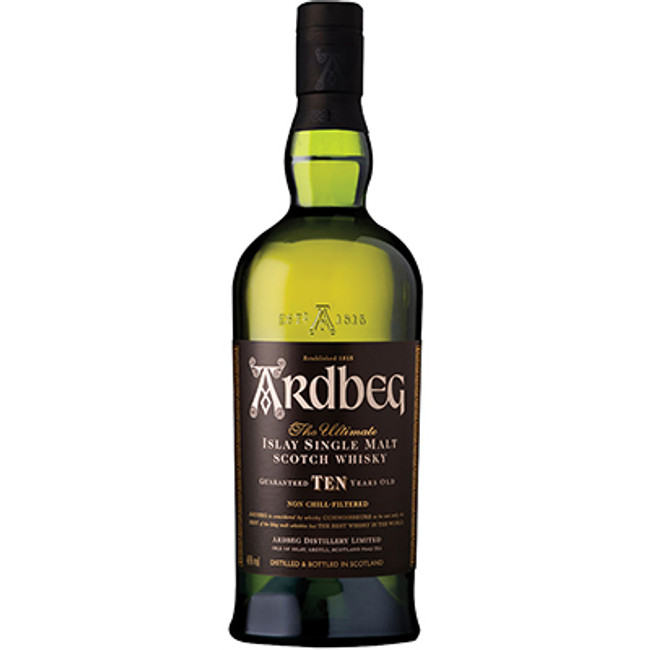 Ardbeg 10 Years Old Islay Single Malt Scotch