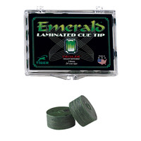 Emerald Leather Pool Cue Tip