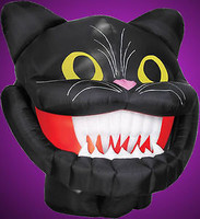 Animated Air blown Inflatable Moving Cat Head Halloween Yard Decoration