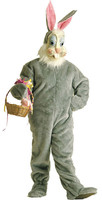 Adult Crazy Critterz Easter Bunny Rabbit Peter Cottontail Mask & Costume