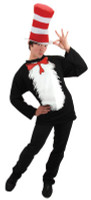 Whisical Dr Seuss Cat In The Hat Halloween Complete Costume Suit Adult Sm/Med