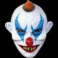 Gothic Freaky Circus Clown Insane Evil Serial Killer Halloween Costume Mask