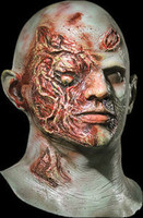 Plaid Boy Rotting Flesh Zombie Halloween Mask Costume