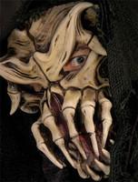 Nightmare Alien Skull Creature Halloween Mask Costume
