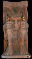 Lighted Gargoyle Wall Mount Halloween Prop Decoration