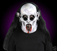 Gothic Vampire w Hair Sunglasses Halloween Mask Costume