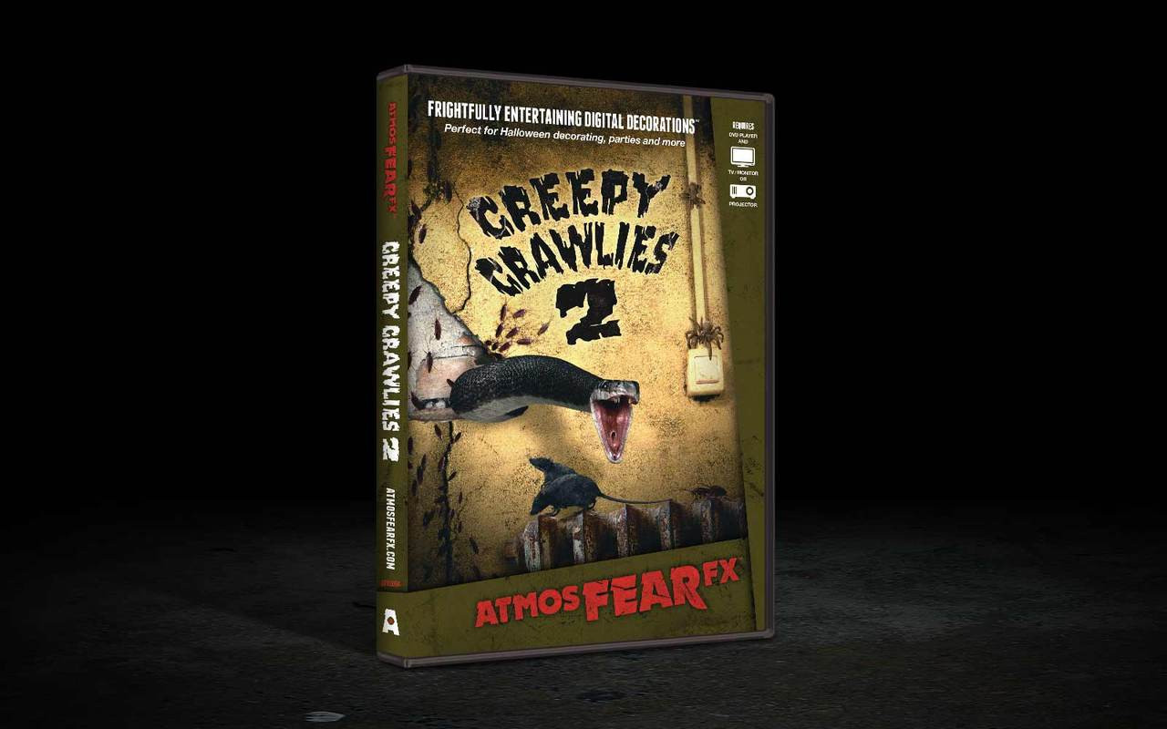 creepy crawlies 2 fx effects haunted projection tv dvd halloween decor