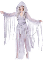 Haunting Beauty Ghost Spirit Dress w/ Accessories Halloween Costume