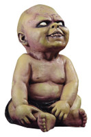Life Sized Latex Sitting Possessed Baby Corpse Halloween Prop
