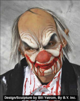 Moving Mouth Smiley Killer Grumpy Clown Hair Supersoft Halloween Costume Mask