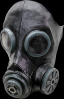 Black Smoke Gas Hazmat Hazart Chemical Halloween Costume Mask