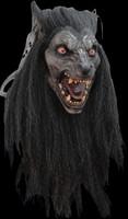 Realistic Black Moon Werewolf Wolfman Halloween Costume Mask
