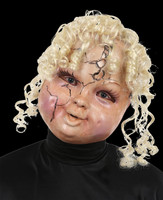 Creepy Carrie Haunted China Doll Blond Hair Halloween Costume Mask