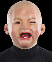 Creepy Crying Baby Realistic Infant Halloween Costume Mask