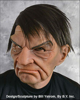 Prick Grumpy Old Geezer Man with Attitude Moving Mouth Halloween Costume Mask
