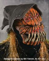 Gourd-ee Pumpkin Man Evil Jack-O-Lantern Moving Mouth Halloween Costume Mask
