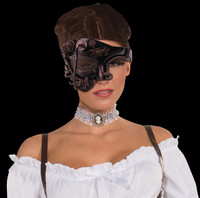 Steampunk female Bronze Halloween Costume Half Mask