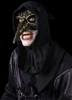 Venetian Black Raven Carnevale w/ Hood Plague Halloween Costume Face Mask