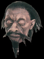Realistic Shrunken VooDoo Head A1 Real Hair Latex Halloween Prop