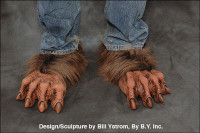 Brown Werewolf Wolfman Hairy Wolf Monster Claws Feet Shoes Halloween Costume Shoe Covers Accessories
